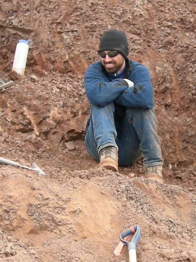 Picture of Jason Downs at a dig site