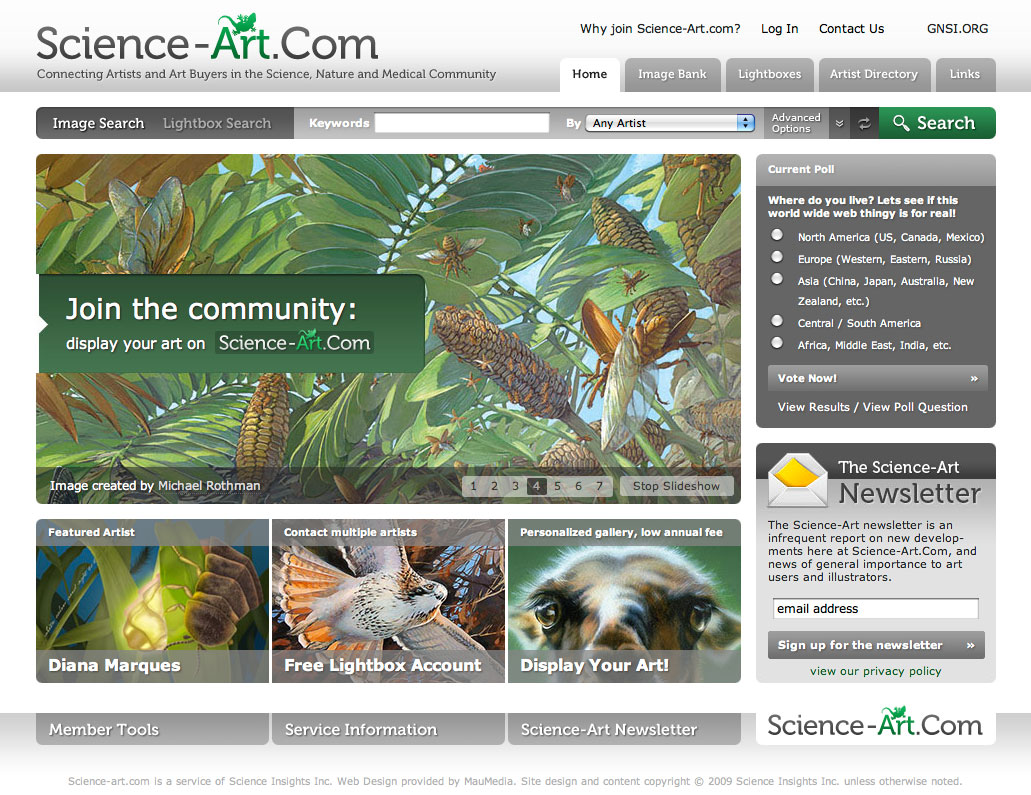 science-art.com homepage